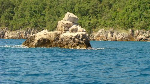 Rock in the sea